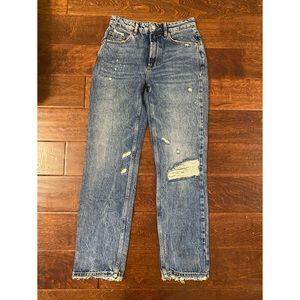 Free People Destroyed Denim Jeans